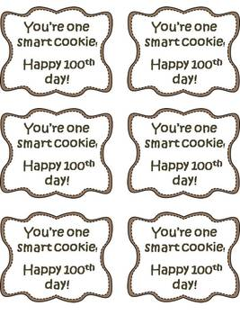 100th Day Treat Tags Variety {FREEBIE}