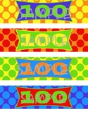100th Day Water Bottle Labels