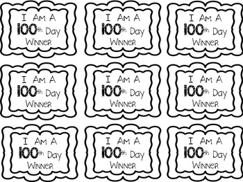 100th Day Winner Ribbon {Movement Breaks & Race to 100 Game}
