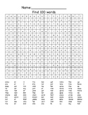 100th Day Wordsearch