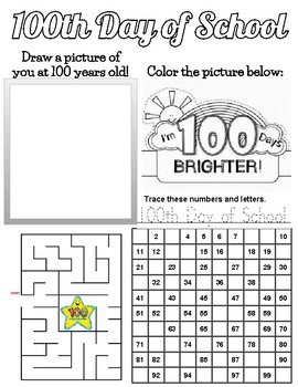 100th Day Worksheet