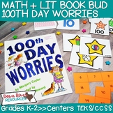 100th Day Worries Book Bud | 100th Day of School Activitie