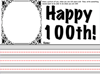 100th Day Writing!