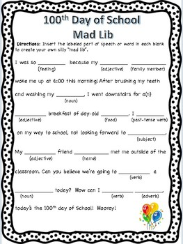100th Day Activities (2nd - 5th grade)