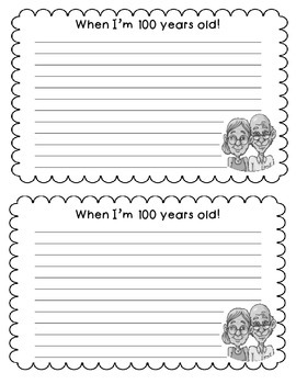 100th Day Writing Activity