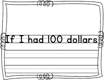 100th Day Writing - If I Had 100 Dollars