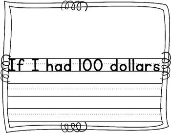 100th Day Writing - If I Had 100 Dollars