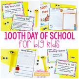 100th Day of School for Big Kids - Booklet and Task Cards