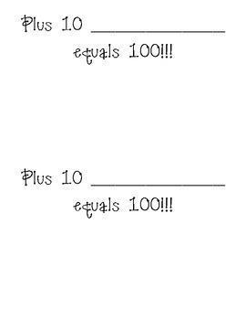 100th Day of Kindergarten Activity Book