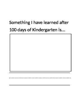 100th Day of Kindergarten Writing Activity Book