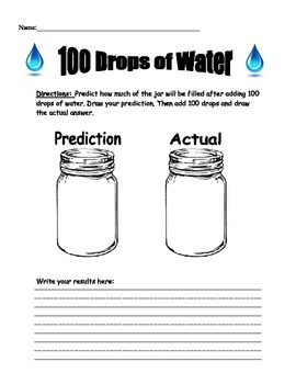 100th Day of School 100 Drops