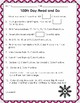 Valentine Theme-100th Day of School Packet
