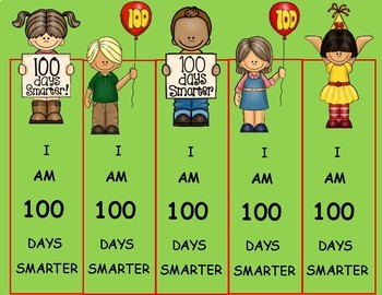 100 Days of School Bookmarks, 100th Day of School Activities, Free