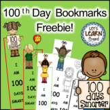 100th  Day of School Bookmarks, 100 Days of School Activities, Free