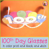 100th Day of School photo booth glasses