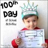 100th Day of School Activities kindergarten, preschool, first grade