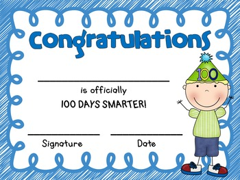 100th Day of School Certificates