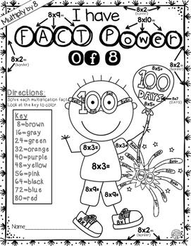 100th Day of School Math Freebie