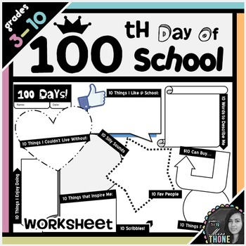 100th Day of School Worksheet