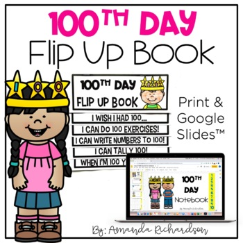 100th Day of School Flip Up Book