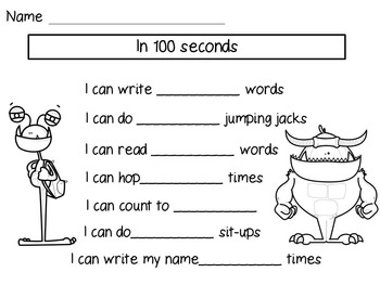 100th Day of School Math, Literacy, and Just for Fun Activities (Grades 1-3)
