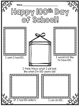 100th Day of School Activities and Projects