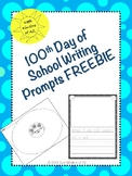 100th Day of School, 5 day Writing Prompts and Circle Maps FREEBIE