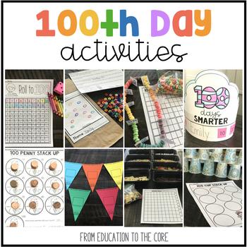 100th Day of School Activities   Kindergarten and First Grade