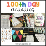 100th Day of School Activities | Kindergarten and First Grade | 120 Days