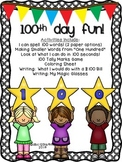 100th Day of School {7 Activities/ Worksheets} for 1st and