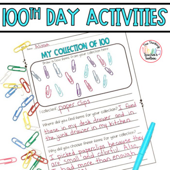 100th Day of School 800th Follower Freebie!