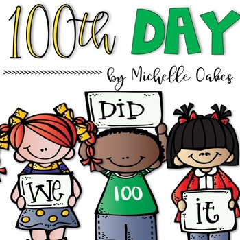 100th day if school worksheets teaching resources teachers pay rh teacherspayteachers com Groundhog Day 100th day of school clipart black and white