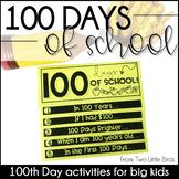 100th Day of School: Activities, Flip Book, Banner, Poster
