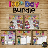 100th Day of School Activities BUNDLE Color by Code, Writing Pages, Math Games