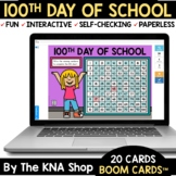 100th Day of School Activities Boom Cards Distance Learning