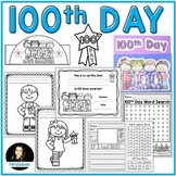 100th Day of School Activities NO PREP | 100 Days Word Search, Crown, Ribbon