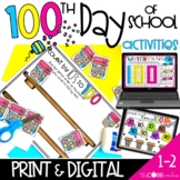 Digital 100th Day of School Activities   Distance Learning