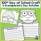 100th Day of School Kindergarten Craft Glasses | Grandpare