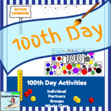 100th Day of School Worksheets & Activities- Hats, Math, P