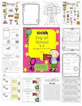 100th Day of School Activities K-4