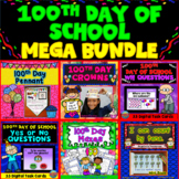 100th Day of School Activities Mega Bundle: Boom Cards™- Math - WH Questions...