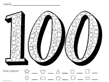 100th Day of School Activities Pack