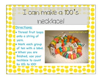 100th Day of School! Activities and Materials
