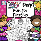 100th Day of School First Grade Worksheets Activities NO PREP