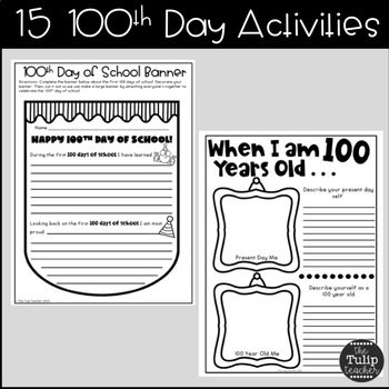 100th Day of School Activities for Upper Elementary