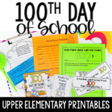 100th Day of School Activities | Upper Elementary 100 Days of School Activities