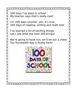 100th Day of School Activities - have some fun!