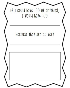 100th Day of School Activity