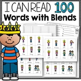 100th Day of School Phonics Game for Blends to Practice Reading Fluency