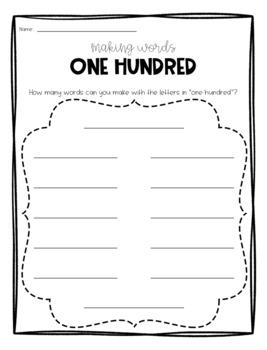 100th Day of School Activity Bundle